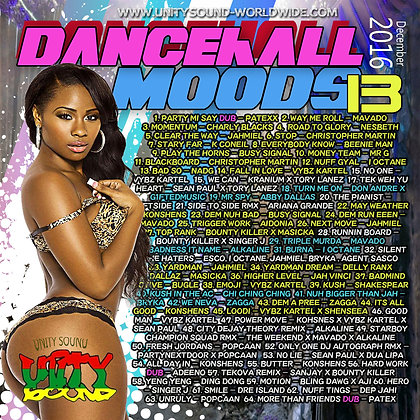 Dancehall Mood 13 (DH Mix) CD $5.99 or DL $2.99