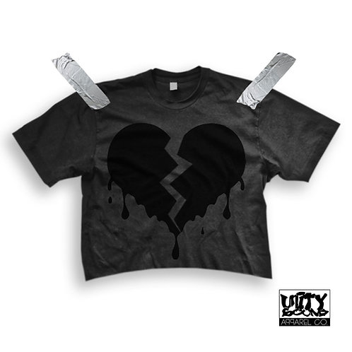 Drippy Love Crop Top (Ladies)