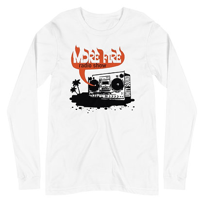 More Fire Show Retro Logo Unisex Long Sleeve Tee