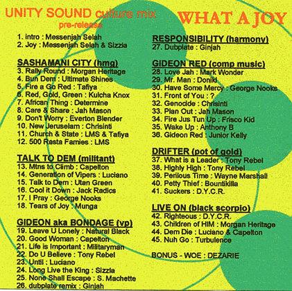 What a Joy (Culture Mix) CD $2.99 / DL $1.99