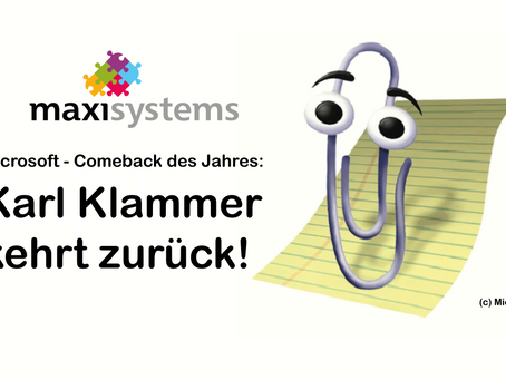 Comeback des Jahres: Karl Klammer kehrt zu Windows zurück