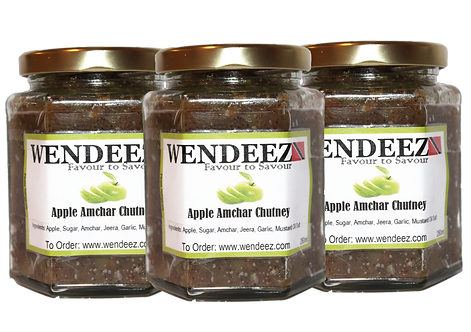 3x Apple Amchar Chutney With Pepper