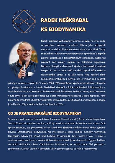KRANIOSAKRÁLNÍ BIODYNAMIKA - Radek Neškrabal