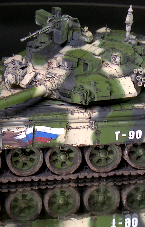 1/35 T-90 - Actual Video Subject - Full Painted & Weathered