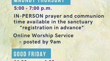 2021 Holy Week at FCC
