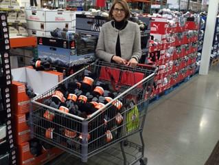 FCC Grant Provides Socks for Homeless Shelter