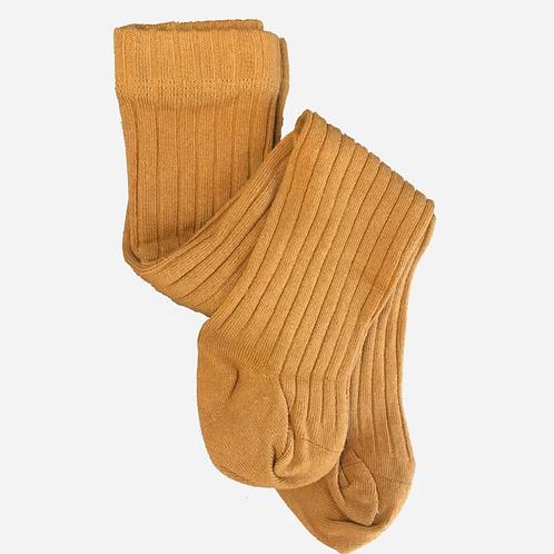 Cotton Tights - Mustard