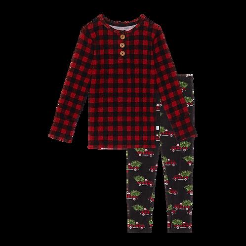 Posh Peanut Levi Long Sleeve Henley Pajamas
