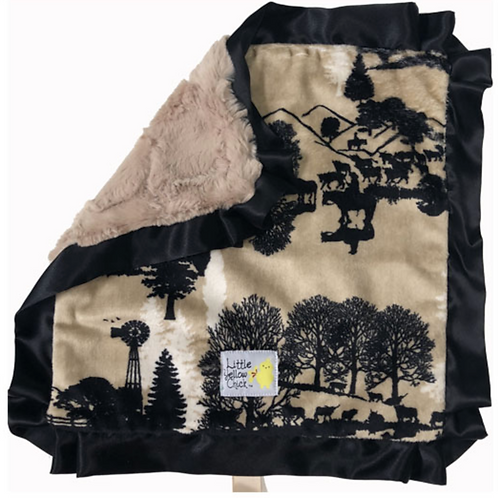 Little Yellow Chick Cattle Drive Blanket