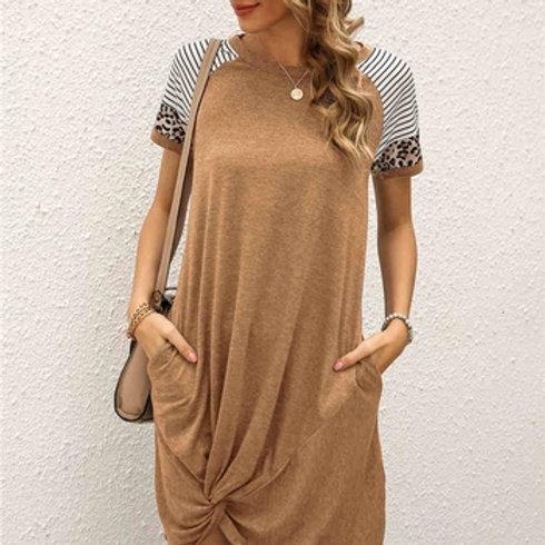 Leopard Sleeve Dress