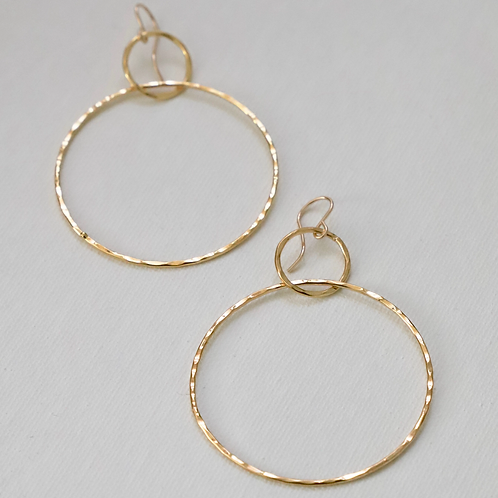 Hammered Silhouette Hoop Earrings