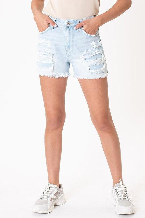 Kan Can Light Wash Jean Shorts