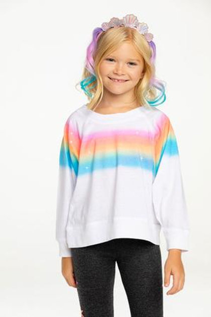 Chaser Rainbow Cropped Long Sleeve