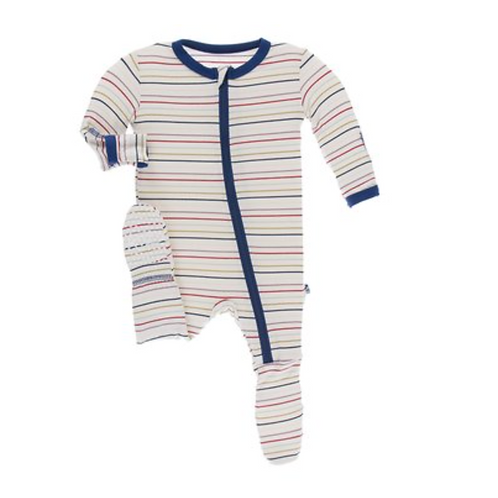 Kickee Pants Multi-Stripe Footie