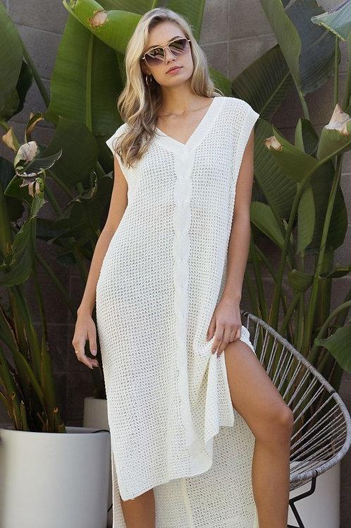 Cable Knit Vest Dress
