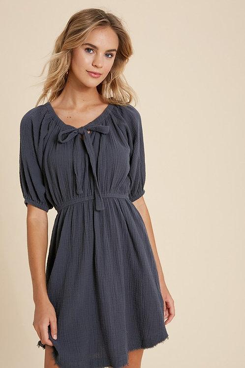 Dark Teal Cotton Dress
