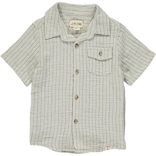 Me and Henry Khaki Striped Top