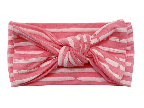 Pink Stripe Headwrap