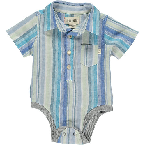 Striped Collared Onesie