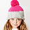 Thumbnail: Pink and Grey Beanie