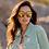 Thumbnail: DIFF Becky Matte Black/Gold Mirror Sunglasses