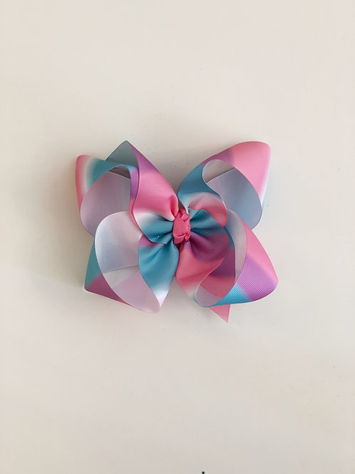 Pink Purple & Blue Bow