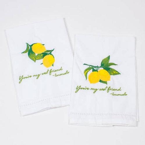 2pc Bar Towel Set - Lemon
