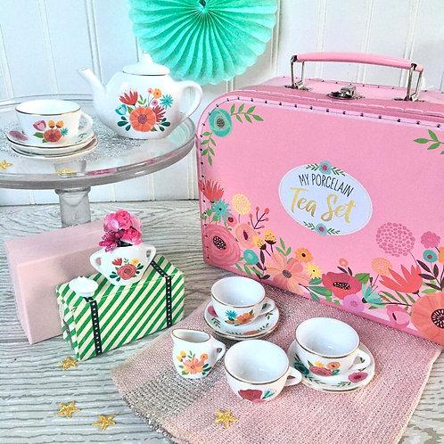 My Porcelain Tea Set w/Carry Case
