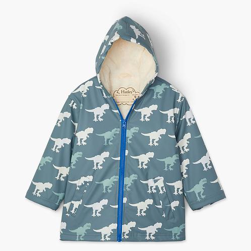 t-rex sherpa lined Raincoat