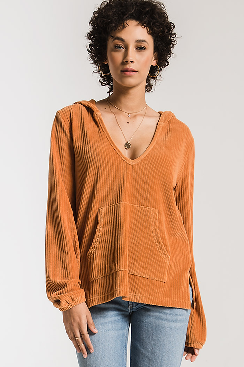 Wide Wale Knit Corduroy Pullover