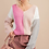 Thumbnail: V-Neck Color Block Sweater