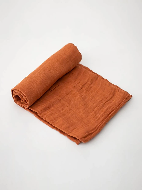 Rust Little Unicorn Swaddle