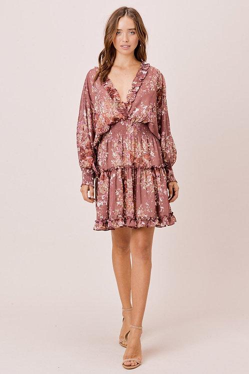 Dusty Mauve Ruffle Dress