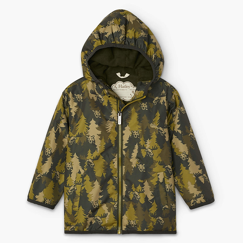 forest camo microfiber rain jacket