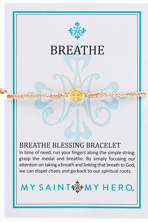 Gold/Metallic Copper Breathe Blessing Bracelet