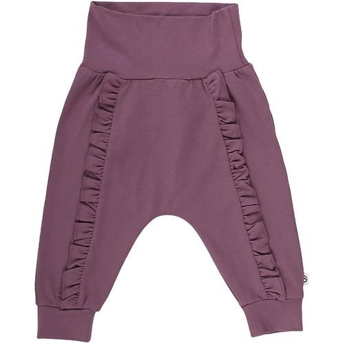 Cozy Frill Pants - Flint Color