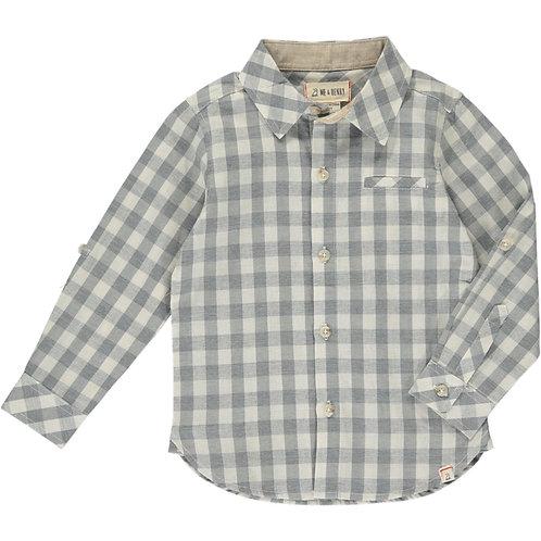 Grey & White Plaid Long Sleeve
