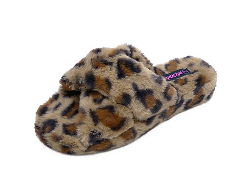 Leopard Fluffy Slippers