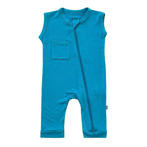 Kyte Baby Zippered Romper In Lagoon