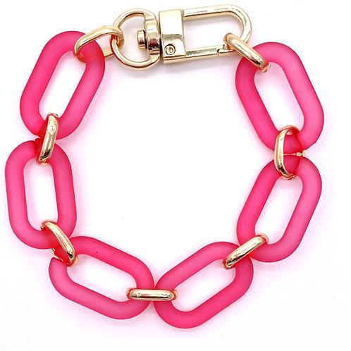 Hot Pink Link Bracelet