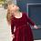 Thumbnail: Burgundy Charlotte Dress