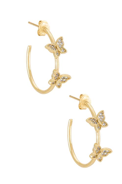 Mini Butterfly Hoop Earrings