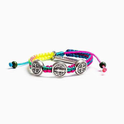 Rainbow Benedictine Blessing Bracelet For Kids