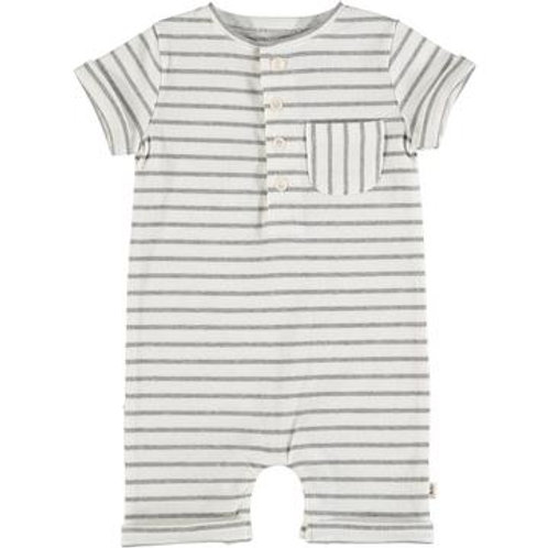 Me and Henry Grey Striped Playsuit