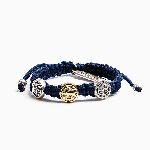Navy Benedictine Blessing Bracelet For Kids