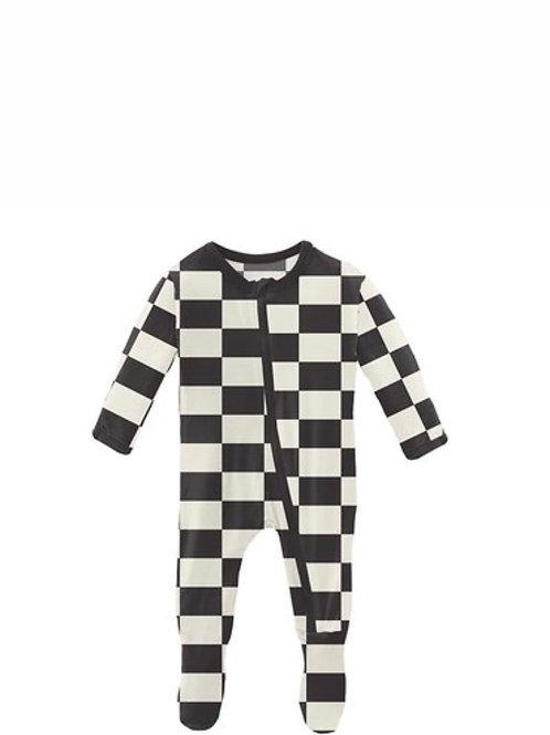 Kickee Pants Checkered Flag Footie