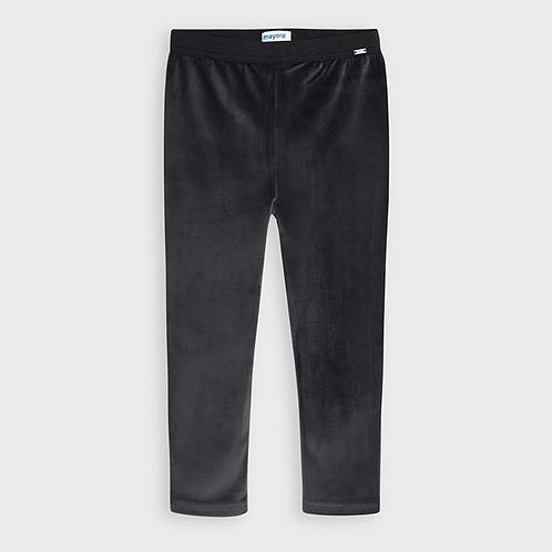 Grey Velvet Leggings