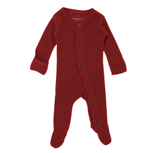 L'oved Baby Crimson Thermal Footie