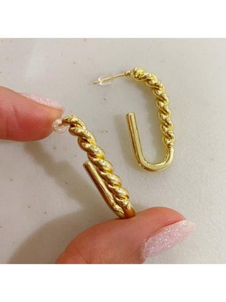 Twist Half Hoop Earrings