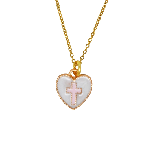 Cross Heart Necklace